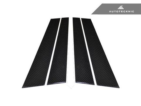 AutoTecknic Carbon Fiber B-Pillar Covers - BMW E36 4Dr Sedan
