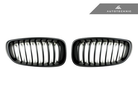 AutoTecknic Replacement Stealth Black Front Grilles - F34 3-Series Gran Turismo