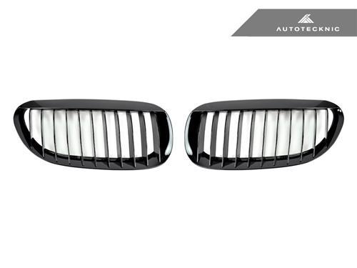 AutoTecknic Replacement Glazing Black Front Grilles - E63 Coupe / E64 Cabrio | 6 Series & M6