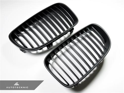 AutoTecknic Replacement Stealth Black Front Grilles - E82 1-Series | 1M