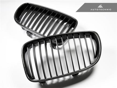 AutoTecknic Replacement Carbon Fiber Front Grilles - E82 Coupe / E88 Cabrio | 1 Series including 1M
