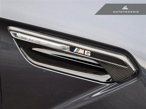 AutoTecknic Dry Carbon Fiber Fender Light Trims - F06 Gran-Coupe / F12 Cabrio / F13 Coupe | M6