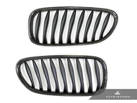 AutoTecknic Replacement Carbon Fiber Front Grilles - E85 Coupe / E86 Cabrio | Z4 Series including Z4M