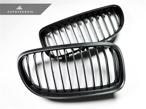 AutoTecknic Replacement Stealth Black Front Grilles - E90 Sedan / E91 Wagon | 3 Series LCI