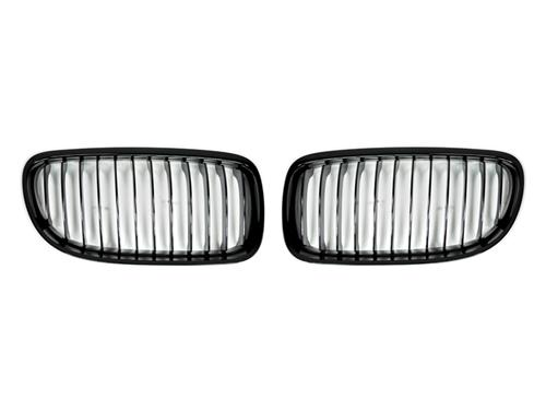 AutoTecknic Replacement Glazing Black Front Grilles - E90 Sedan / E91 Wagon | 3 Series LCI