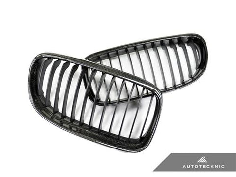 AutoTecknic Replacement Carbon Fiber Front Grilles - E90 Sedan / E91 Wagon | 3 series LCI
