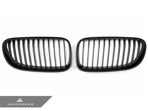 AutoTecknic Replacement Stealth Black Front Grilles - E92 Coupe / E93 Cabrio | 3 Series LCI