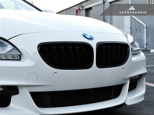 AutoTecknic Replacement Dual-Slats Glazing Black Front Grilles - F06 Gran Coupe / F12 Coupe / F13 Cabrio | 6 Series & M6