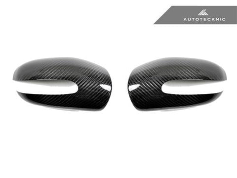 AutoTecknic Dry Carbon Fiber Mirror Covers - Mercedes Benz W211 E-Class 2003-2006