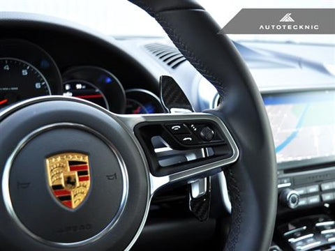 AutoTecknic Dry Carbon Competition Shift Paddles - Porsche 991.2 Carrera/ Turbo/ GT3 | 991 GT3RS |718 Cayman/Boxster |958.2 Cayenne|95B Macan |918 Spyder|971 Panamera
