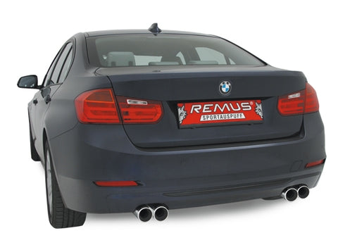 REMUS Performance Sport Exhaust BMW 3 Series F30 Sedan F31 Sport Wagon 328i 328i xDrive  Axle Back left/right system
