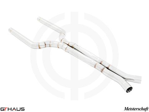 GTHAUS MEISTERSCHAFT LSR Mid Resonator Delete Pipes (Full cat-back pipe) 90mm piping (SUS) BMW F90