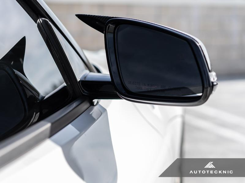 AUTOTECKNIC REPLACEMENT AERO GLAZING BLACK MIRROR COVERS - A90 SUPRA 2020-UP