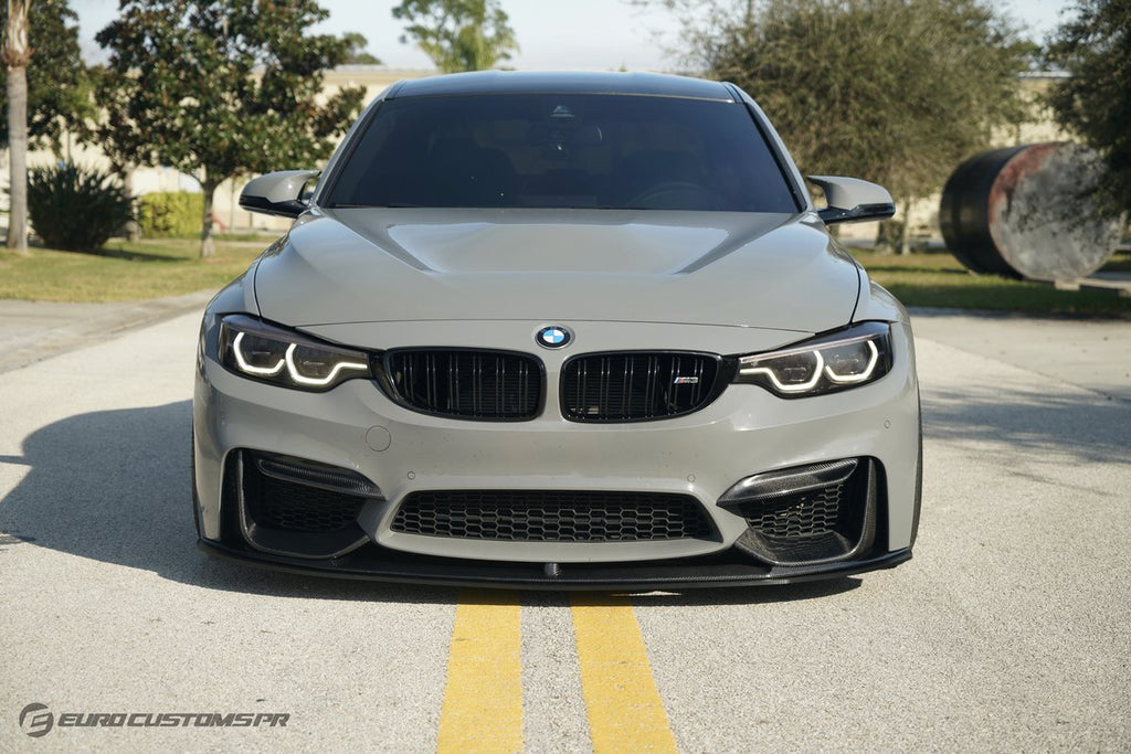 ECPR - BMW M3 | M4 (F80/F82/F83) Splitter for Carbon Fiber or ABS M Performance Style Front Lip