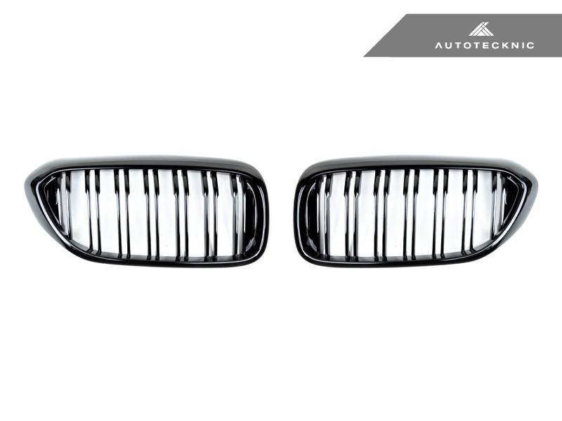 AutoTecknic Replacement Dual-Slats Glazing Black Front Grilles - G30 5-Series