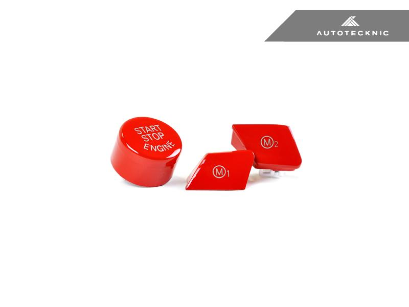 AUTOTECKNIC BRIGHT RED M1/ M2 BUTTON SET - BMW F-CHASSIS M VEHICLES