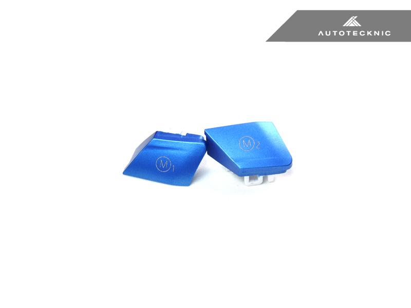 AUTOTECKNIC SATIN ROYAL BLUE M1/ M2 BUTTON SET - BMW F-CHASSIS M VEHICLES