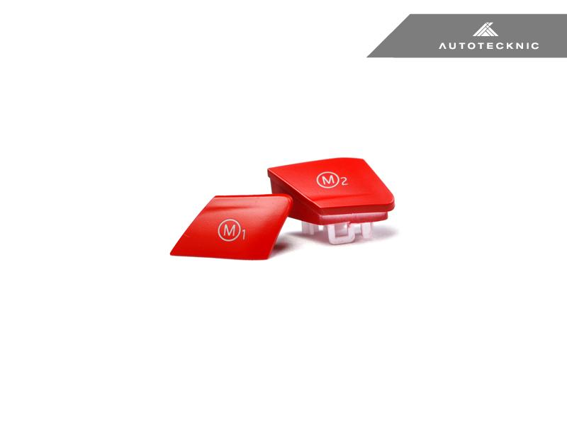 AUTOTECKNIC SATIN RED M1/ M2 BUTTON SET - BMW F-CHASSIS M VEHICLES