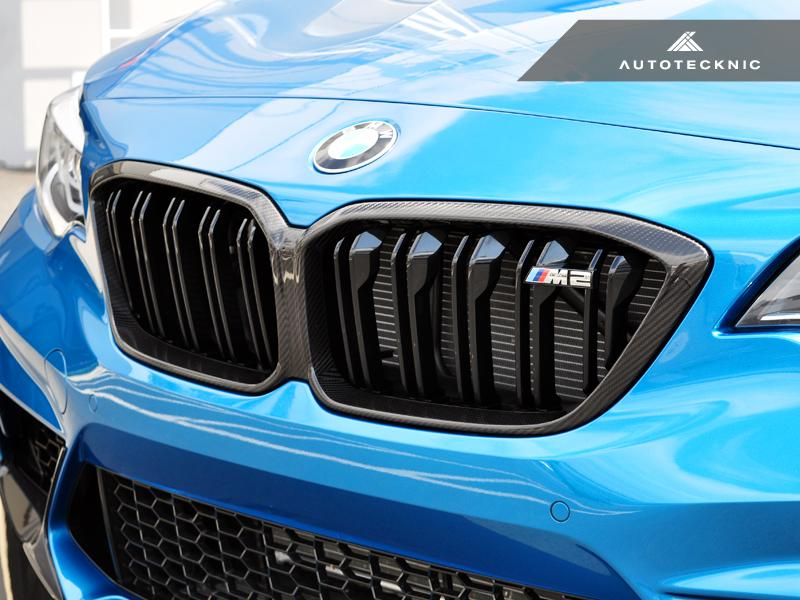AUTOTECKNIC REPLACEMENT DRY CARBON GRILLE SURROUNDS - BMW M2 COMPETITION (F87)
