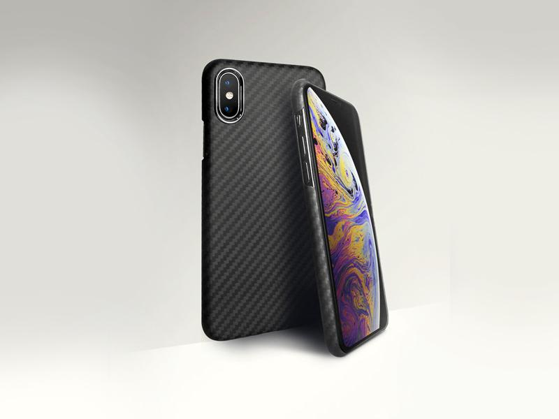 AutoTecknic Dry Carbon iPhone Cover - iPhone XS MAX - Matte Finish