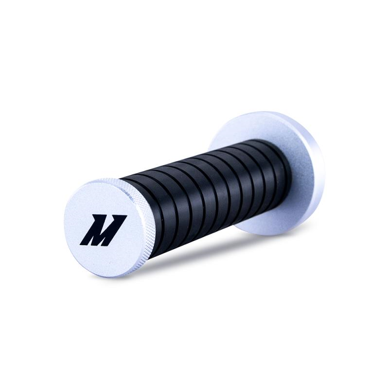 Mishimoto Weighted Grip Shift Knob - Silver / Black