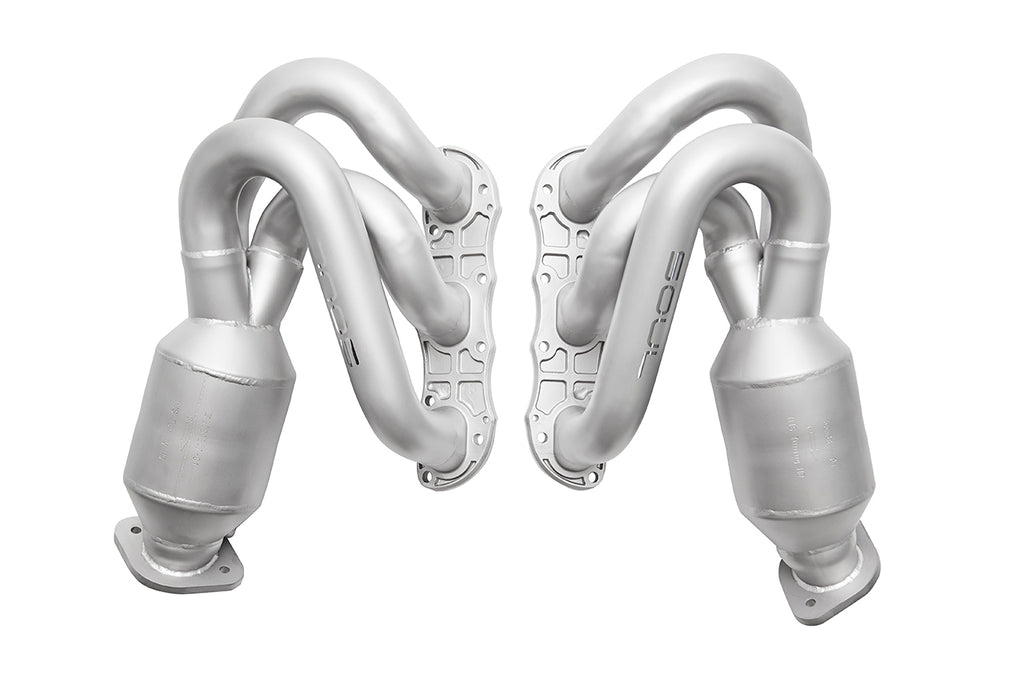 Soul Performance Porsche 981 GT4 / Spyder Long Tube Street Headers (w/ HJS 200 cell catalytic converters)