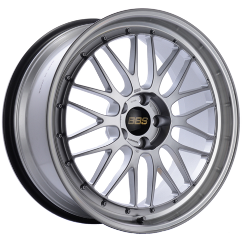 BBS LM 238 20x9.5 5x114.3 ET40 CB66 Diamond Silver Center Diamond Cut Lip Wheel