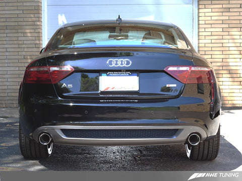 AWE Tuning Audi B8 A5 3.2L Touring Edition Exhaust System - Dual 3.5in Polished Silver Tips