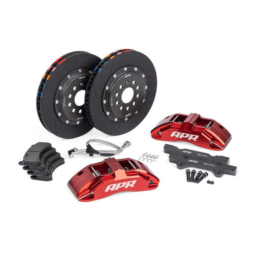 APR Brakes - 350x34mm 2 Piece 6 Piston Kit - Front - Red - MK6 GTI