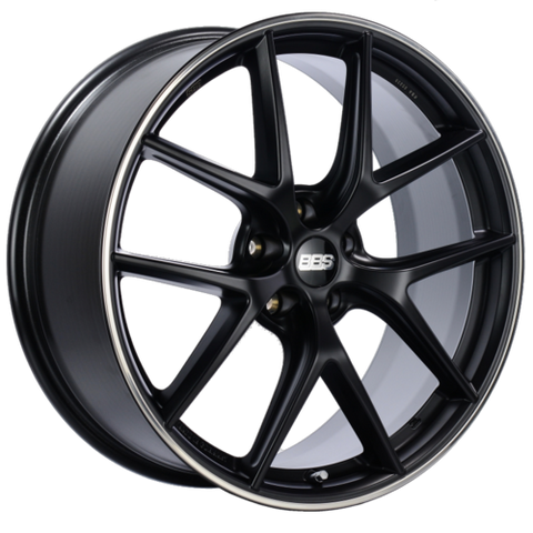 BBS CI-R 0103 20x8.5 5x112 ET42 Satin Black Polished Rim Protector Wheel -82mm PFS/Clip Required