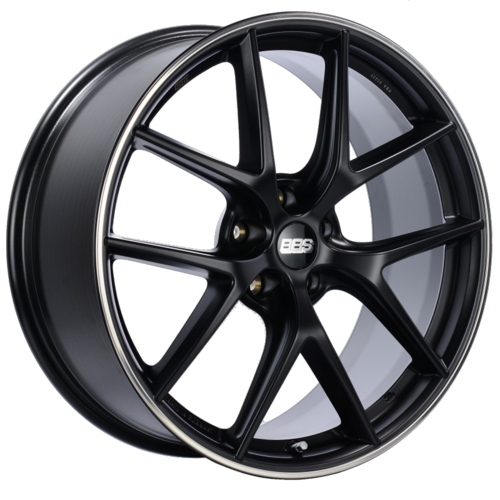 BBS CI-R 0104 20x8.5 5x114.3 ET40 Satin Black Polished Rim Protector Wheel -82mm PFS/Clip Required