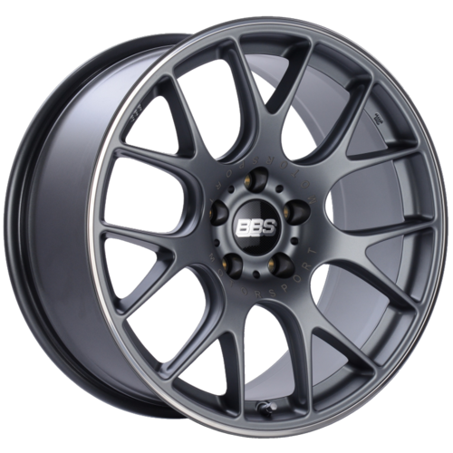 BBS CH-R 106 19x9.5 5x120 ET35 Satin Titanium Polished Rim Protector Wheel -82mm PFS/Clip Required