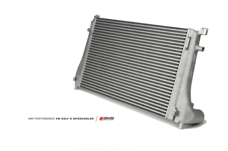 AMS Performance 2015+ VW Golf R MK7 Front Mount Intercooler Upgrade w/Cast End Tanks