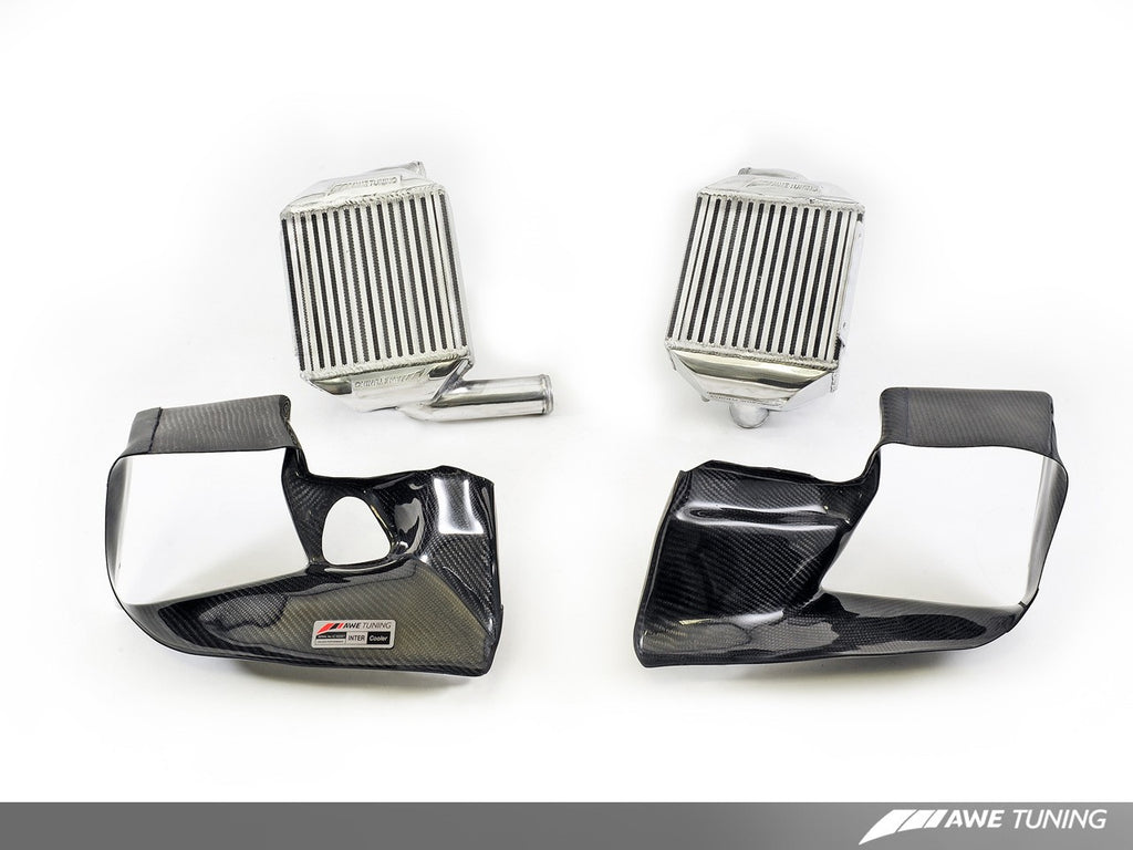 AWE Tuning Audi 2.7T Intercooler Carbon Fiber Shrouds - Shrouds Only Set of Two