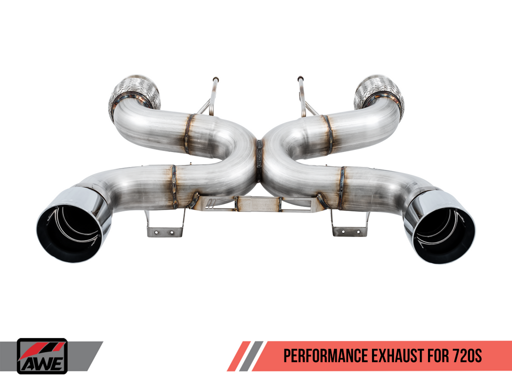 AWE Tuning McLaren 720S Performance Exhaust - Chrome Silver Tips
