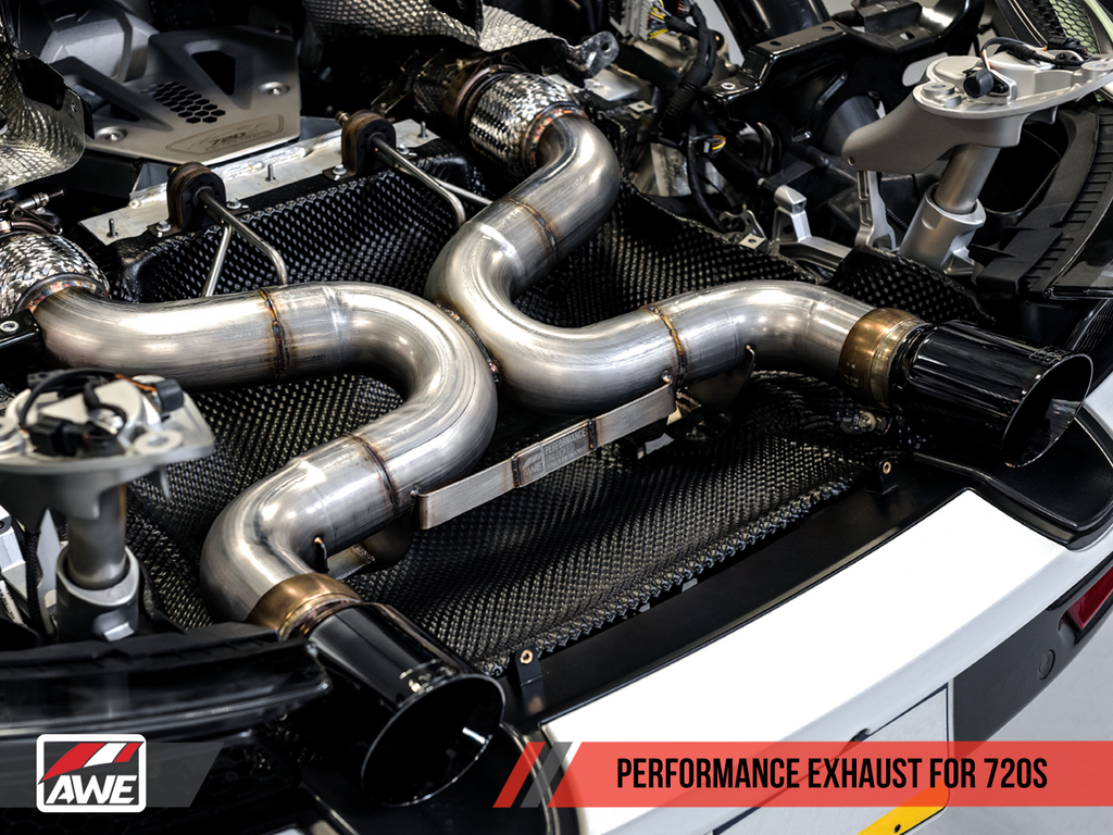 AWE Tuning McLaren 720S Performance Exhaust - Diamond Black Tips