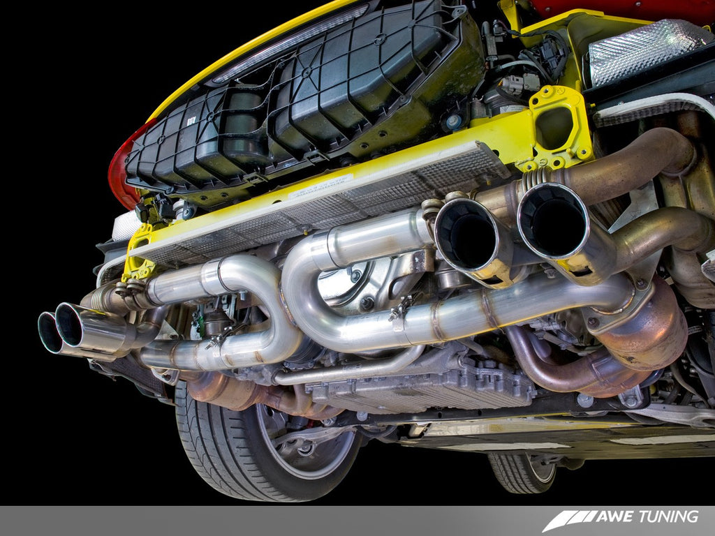 AWE Tuning Porsche 991 SwitchPath Exhaust for PSE Cars Chrome Silver Tips