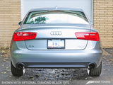 AWE Tuning Audi C7 A6 3.0T Touring Edition Exhaust - Dual Outlet Diamond Black Tips