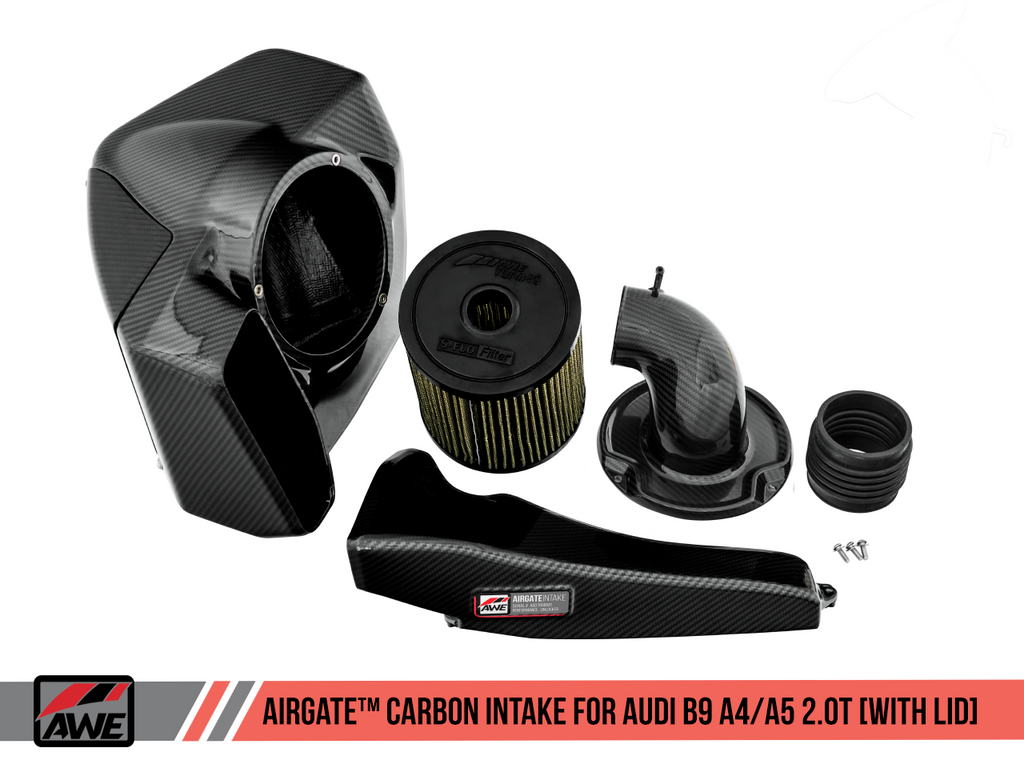 AWE TUNING AIRGATE™ CARBON INTAKE FOR AUDI B9 A4 / A5 2.0T with Lid