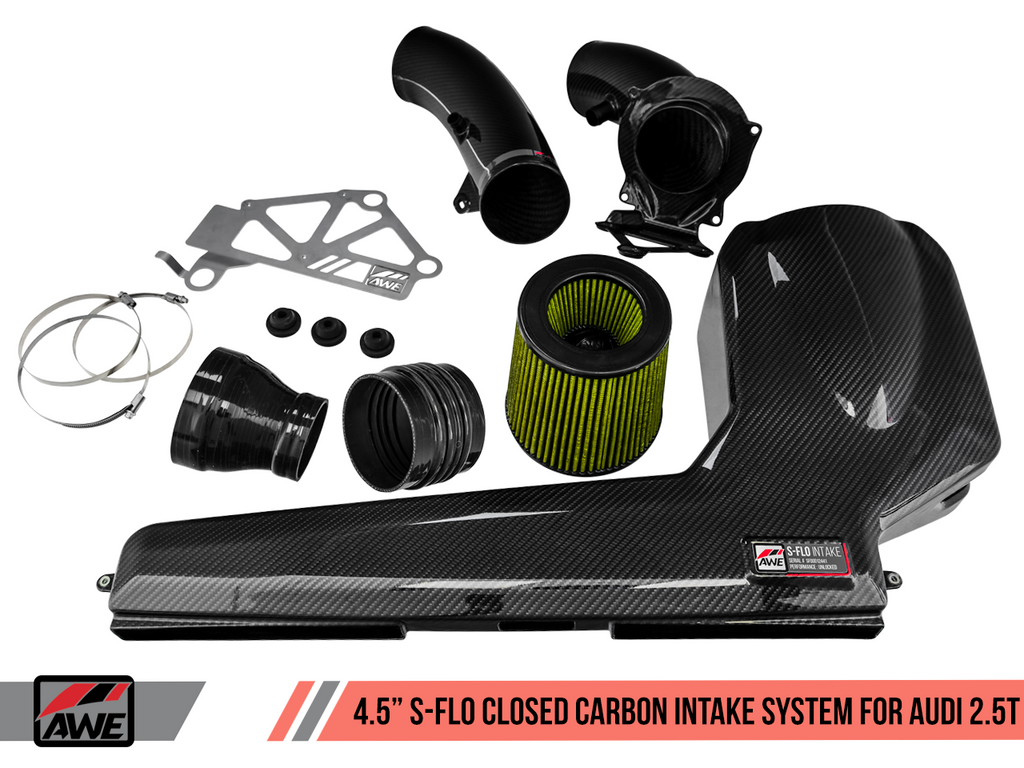 AWE Tuning Audi RS3 / TT RS S-FLO Closed Carbon Fiber Intake