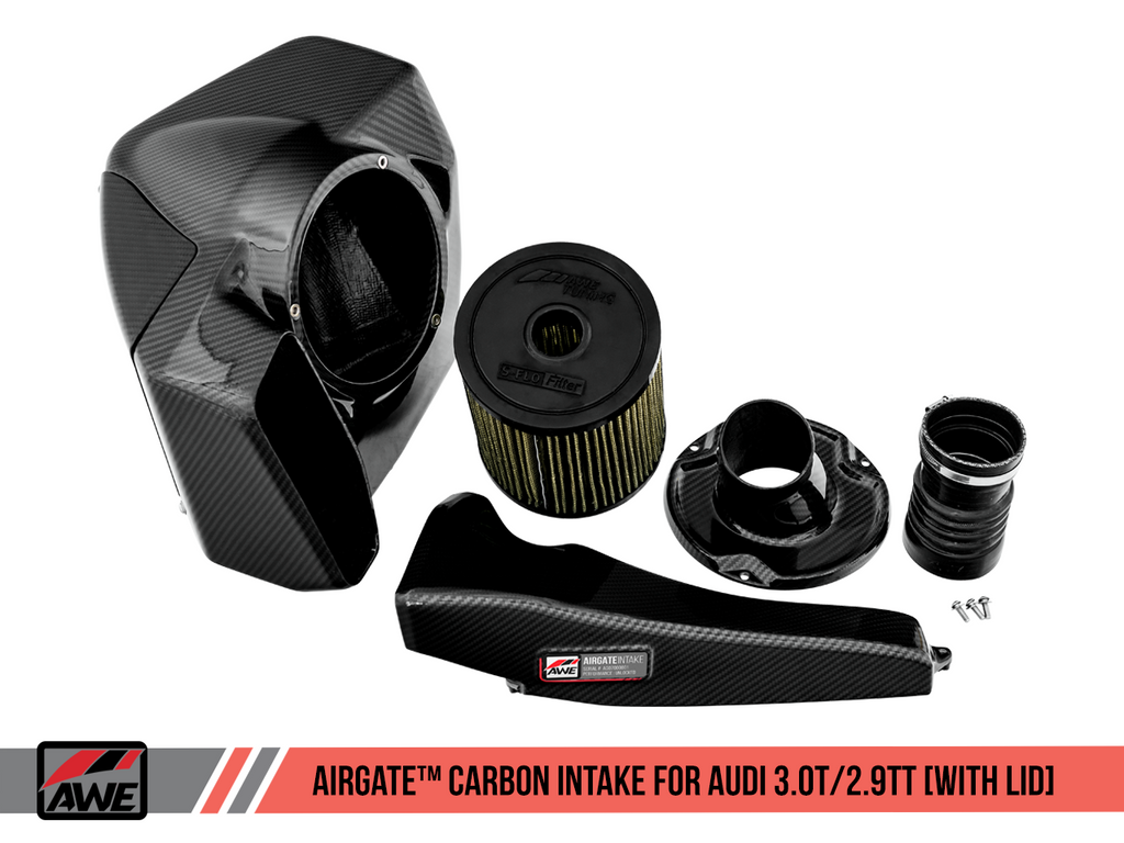 AWE AIRGATE™ CARBON INTAKE FOR AUDI B9 S4 / S5 / RS 4 / RS 5 with Lid