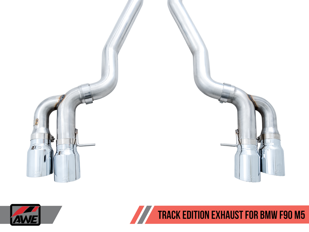 AWE Tuning Track Edition Catback Exhaust for BMW F90 M5 - Chrome Silver Tips