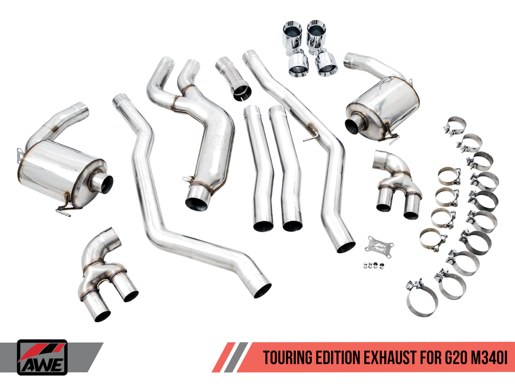 AWE Tuning BMW M340i (G20) Non-Resonated Touring Edition Exhaust (Use OE Tips)