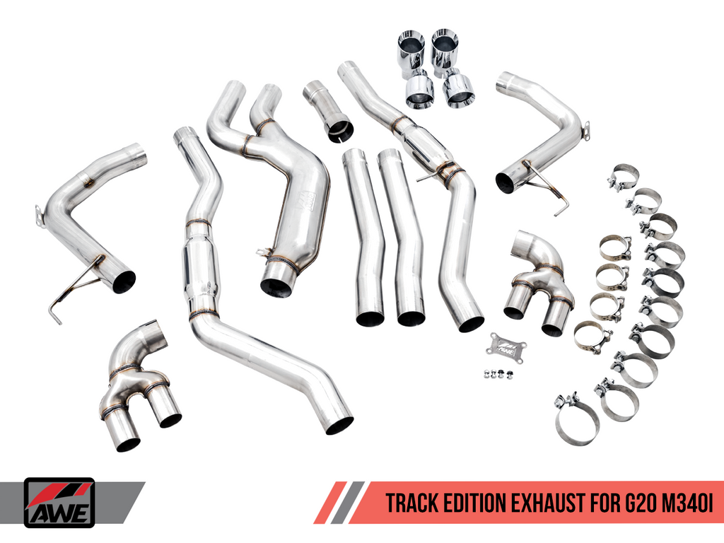 AWE Tuning BMW M340i (G20) Track Edition Exhaust (Use OE Tips)