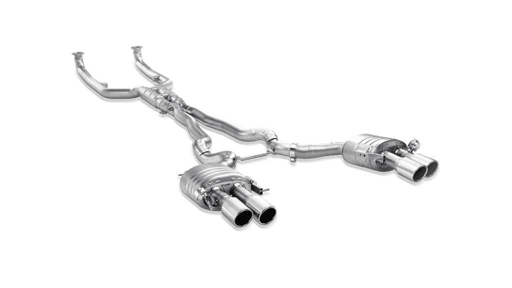 Akrapovic BMW M6 Gran Coupe (F06) Evolution Line Cat Back (Titanium) with Titanium Tips