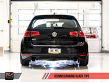 AWE Tuning VW MK7 GTI Touring Edition Exhaust - Diamond Black Tips