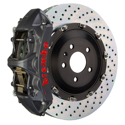 Brembo BMW 330i (excluding xDrive) (E90) -  GT-S Big Brake Kit 355x32mm 2-Piece Front Hard Anodized Monobloc Track Day and Club Racing Calipers