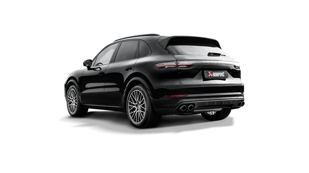Akrapovic Porsche Cayenne V6 (536) Evolution Line Cat Back (Titanium) with Carbon Fiber Tips