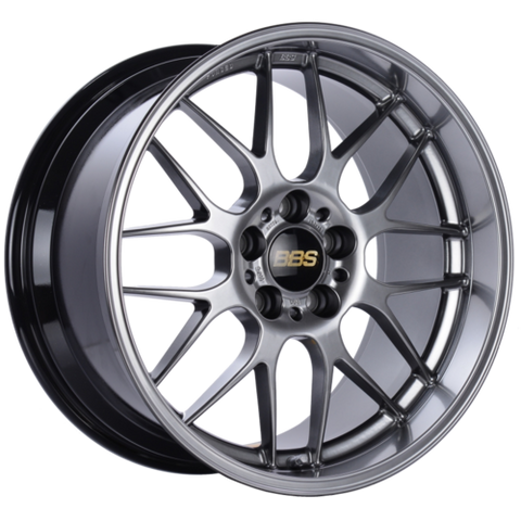 BBS RG-R 771H 19x9.5 5x114.3 ET22 Diamond Black Wheel -82mm PFS/Clip Required