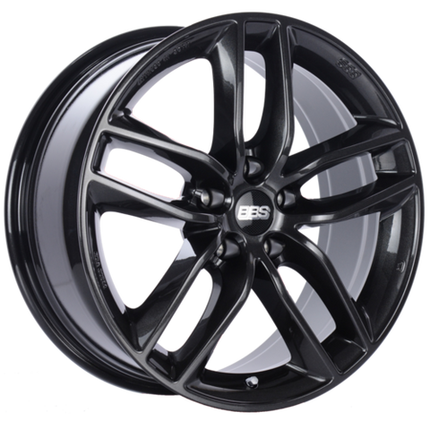 BBS SX 0504 19x8.5 5x108 ET45 Crystal Black Wheel -70mm PFS/Clip Required
